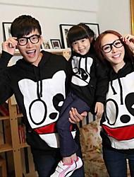Family's Fashion Joker Leisure Cartoon Parent Child With Hood Sweatshirts