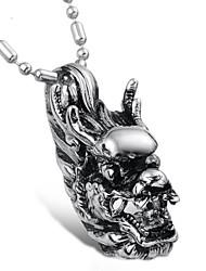 personalidade super cool Kirin deus besta homem de aço titânio colar
