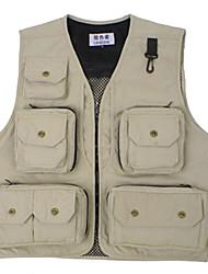 Outdoor Male Sunmer Muti-porket Gridding Waistcoat Vest forPhotographer [XXL]