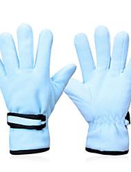 INBIKE Polar Fleece Fabric Light Blue Warm-Keeping Anti-Slip Full Finger Cycling Golves