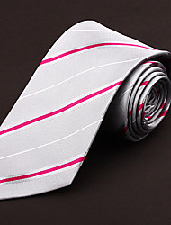 Gray&Red&White Silk Tie