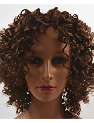 Golden Curly Brazilian Hair Lace Front Wig for Women 16inch 4#