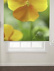 Botanic Style Yellow Flower Roller Shade