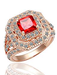 meles Shining Rubin Zirkon-Kristall-Ring