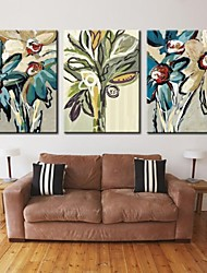 Personalized Canvas Print Stretched Canvas Art Abstract flower 28x40cm  40x60cm Gallery Wrapped Art Set of 3