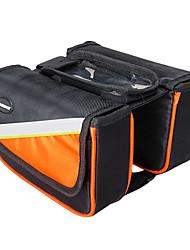 inbike laranja 1680d ciclismo quadro saco de tubo superior grande à prova d'água