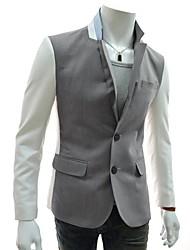 homens lesen moda manga casuais cor feitiço fino de alta qualidade terno o