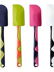 lâmina de borracha de silicone cabo de plástico espátula de borracha cor aleatória, 25x5x0.5cm