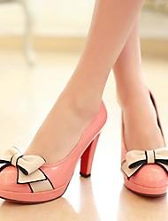 Chaussures Femme - Habillé - Noir / Vert / Rose - Talon Aiguille - Bout Arrondi - Talons - Similicuir