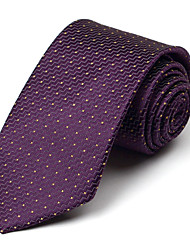 Purple&Yellow Silk Tie