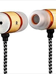 yafox ® DT-mb057ear наушники с микрофоном 3,5 мм разъем для iPhone / HTC / Samsung бамбука материала