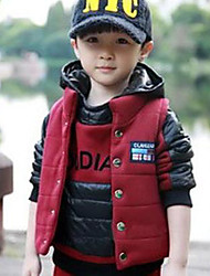 Boy's Fashion Joker Leisure Long Sleeved Exercise Three Piece Clothing Set