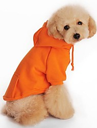 Hunde Kapuzenshirts Rot / Orange / Schwarz / Grau Hundekleidung Frühling/Herbst einfarbig