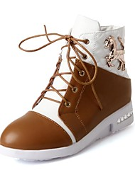 Women's Shoes Round Toe Wedge Heel Fashion Sneakers Shoes with Lace-up More Colors available