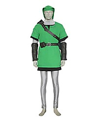 Inspired by The Legend of Zelda Link Video Game Cosplay Costumes Cosplay Suits Patchwork Green Vest / Top / Pants / Belt