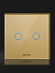 KOPOU Modern Style Glass Touch Switch(Two - controlled switch)