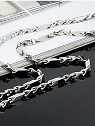 titane de la mode collier de chaîne de forme en acier y des hommes