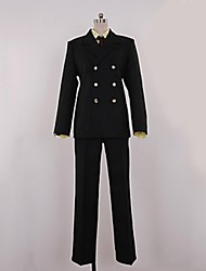 Inspired by One Piece Sanji Anime Cosplay Costumes Cosplay Suits Solid Black Coat / Shirt / Pants / Tie