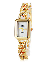 Women's Elegant Square Dial Thin Steel Band Bracelet Watch (Assorted Colors)