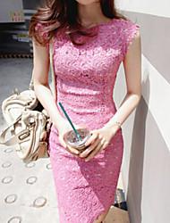Silu Women's Fashion Lace Slim Dress