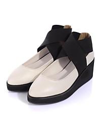 zapatos de las mujeres bombas de tacón de cuña del dedo del pie redondo con zapatos del gore más colores disponibles
