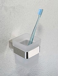 miroir contemporain en acier inoxydable poli finition 304 matériau unique tasse de brosse à dents