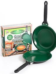 """bascule pan de prise crêpe céramique fabricant rapide et facile, en acier inoxydable de 14,4 """"x8"""" x15.4 """""""