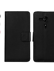 Wallet Style PU Leather Full Body Case with Stand for Sony Xperia SP M35h (Assorted Colors)
