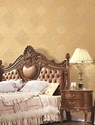 Damask Wallpaper Classical Wall Covering,Pure Paper Yes
