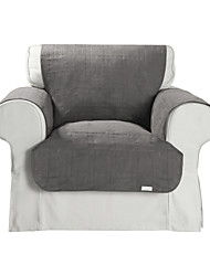 Waterproof Microsuede Grey Solid Cube Quilting Chair Cover