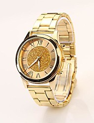 Women's Roman Scale Fading Color Dial Gold Band Quartz Analog Elegant Fashion Watch Cool Watches Unique Watches