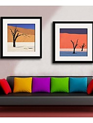 paisaje del desierto de impresión lienzo enmarcado conjunto de 2