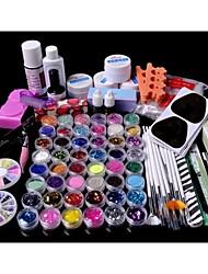 88pcs Glitter UV Gel Reiniger Primer Nail-Art-Kit-Set