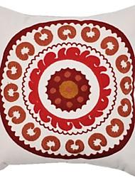 ointime® capa de almofada quadrada suzani bordado opção de duas cores