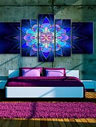 art de toile tendue belle fleur de rêve peinture décorative série de cinq