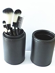 8Pcs Basic Cute Makeup Brush with Small  Cylinder(3 Color)