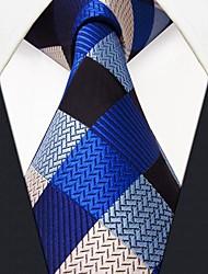 seda azul negócio modelo de verificação gravata dos homens