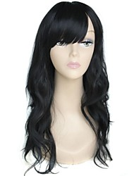 Long High Quality Big Wave Female Elegant Fashion Synthetic Celebrity Black Wig