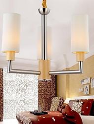pingente de carvalho lâmpada, três luzes, carvalho e vidro, 220 ~ 240V (hy8033)