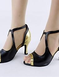 женские кожа верхних Баки бальные латинские обувь сандалии