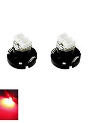T4.2 0,5 Вт 2x3528 SMD LED красный свет автомобиль лампу для борту тире кластера манометрами приборов лампу (12 В постоянного тока, 2 шт)
