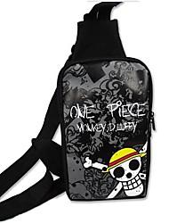un morceau sac motif de crâne de pirates chapeau de paille cosplay de l'épaule