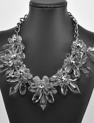 Eternity Women's Crystal Flower Pattern Necklace