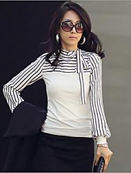 mokio coreano causal moda feminina magro tshirt longo manga