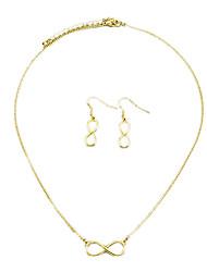moda shixin® buena suerte 8 de la joyería de la forma (collar + aretes) (1 juego)