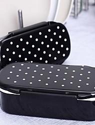 polka dot Japanse stijl lunch box plastic (willekeurige kleur)