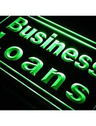 j678 prêts aux entreprises un affichage en magasin signe de néon