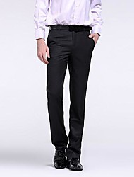 Men's New Fashion  Business Elegant Easy-care Crease-resist  Straight Suit Pants