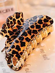 средний размер сократился акриловые волос леопарда клипы случайной доставки