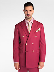 (Premium) Red 100% Wool Tailored Fit Two-Piece uit
